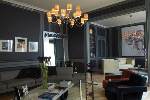 Noir blanc un style for Couleur mur petit salon