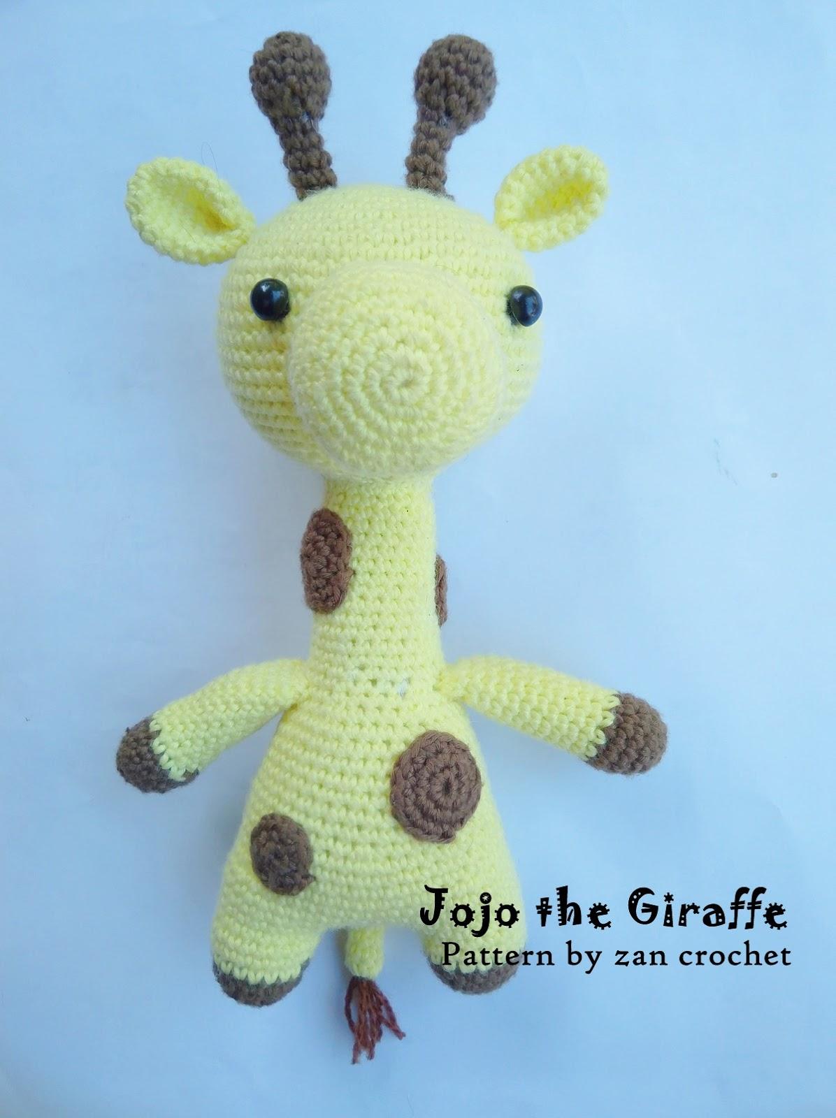 Jojo the Giraffe ~ Zan Crochet