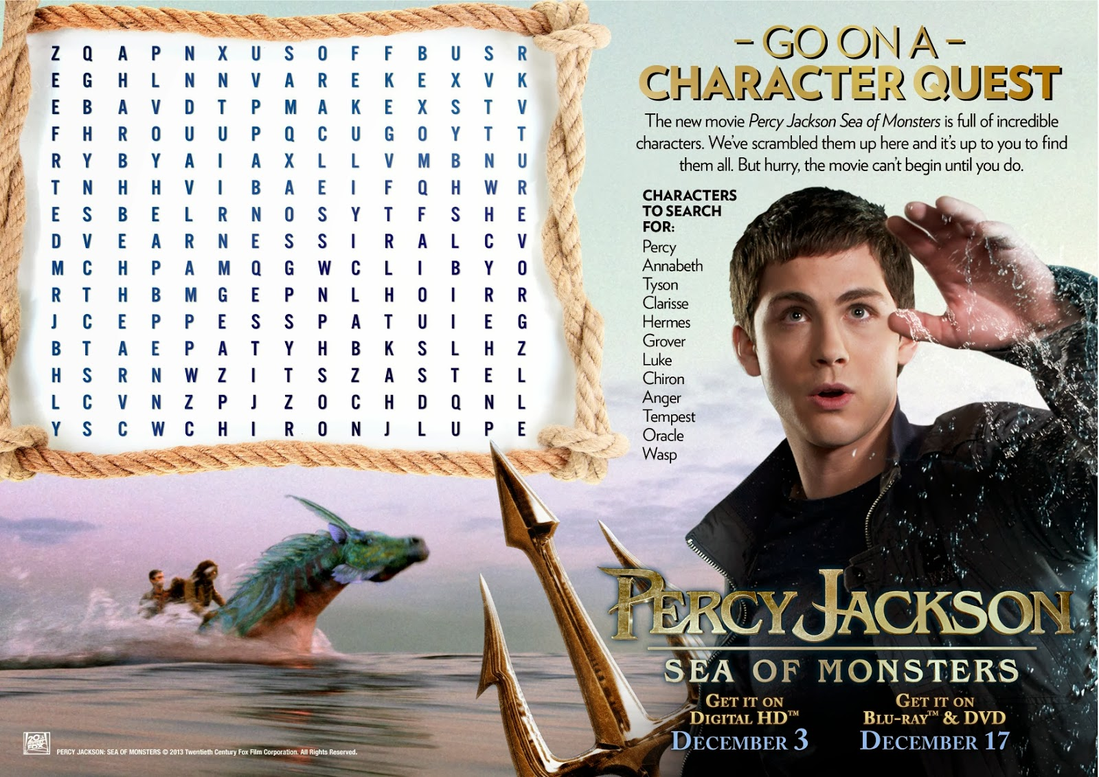 Maria S Space Percy Jackson Sea Of Monsters Blu Ray Giveaway Rafflecopter Percyheroes