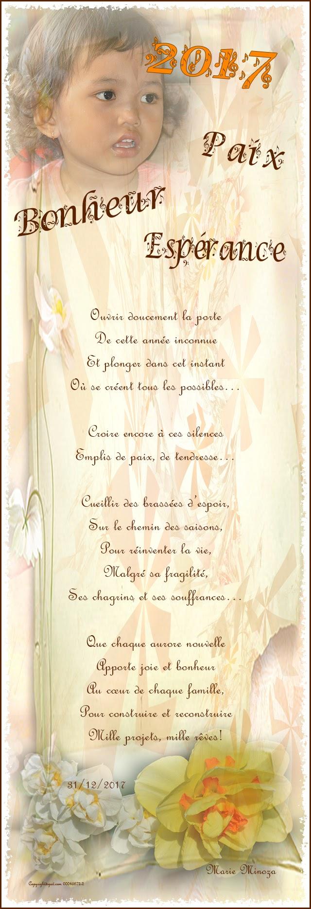 Au Pays Des Images Et Des Mots Poème2017paix Bonheur
