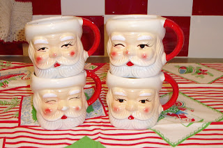 Zetta S Aprons Collecting Santa Face Mugs And Pitchers