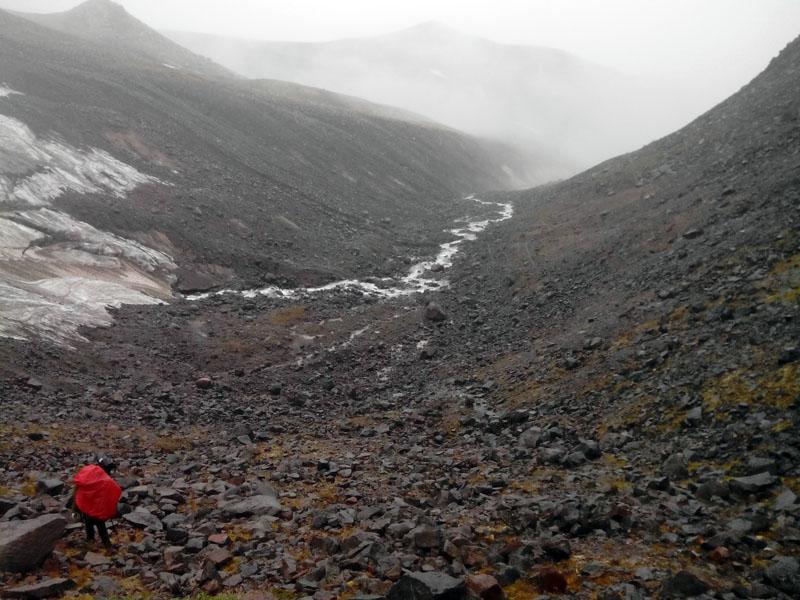 ледник западный ичинский вулкан камчатка