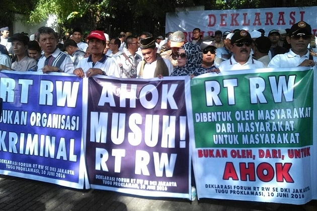 Gelar Demo Tolak Ahok, Forum RT/RW Bakal Gandeng Dhani dan Ratna Sarumpaet