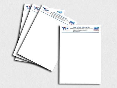 Thiết kế letterhead, giấy tiêu đề cho công ty