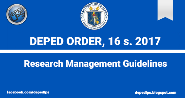 DO 16, s. 2017 - Research Management Guidelines