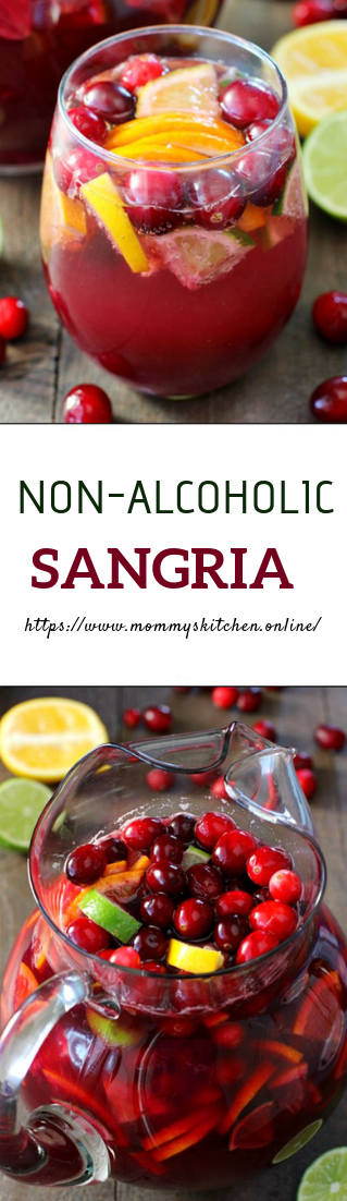 NON-ALCOHOLIC SANGRIA #recipe #freshdrinks