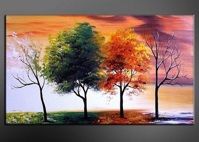 tranh bộ phong cảnh 4 mùa