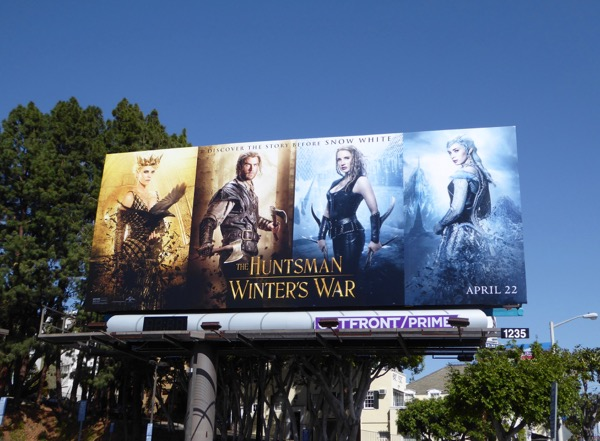 Huntsman Winters War movie billboard