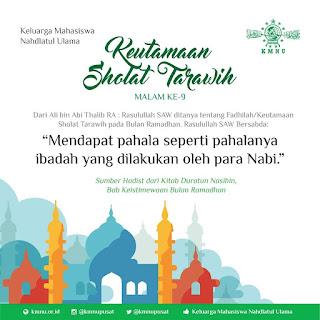 pahala tarawih malam ke 9