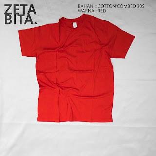 Kaos Polos Merah - Zetabita