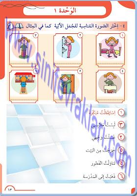 8. Sınıf Meb Yayınları Arapça Ders Kitabı Cevapları Sayfa 13