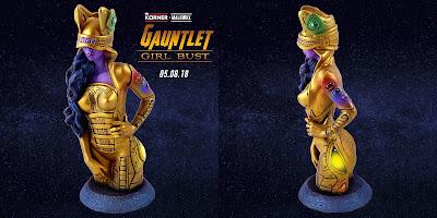 """Avengers: Infinity War """"Gauntlet Girl"""" Custom Mag Girl Vinyl Bust Series by MaloWrx x De Korner x Marvel"""