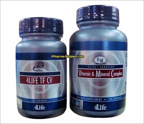 foto 4Life TF CV + 4Life Targeted Vitamin & Mineral Complex (Bungkusan Lama)