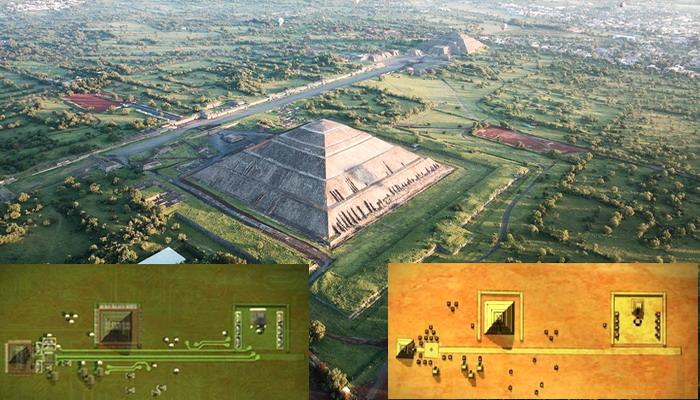Teotihuacán: Una ciudad antigua que se asemeja a una placa de circuito de computadora cuando se ve desde arriba