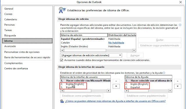 Podremos cambiar de Español a Ingles y viseversa a placer.