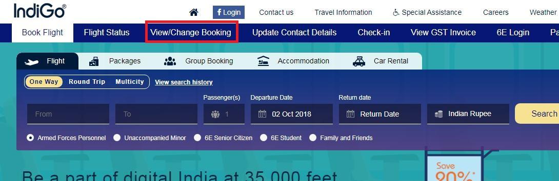 download indigo ticket using reference number