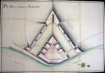Fort Mortier (— Plan ms. (fonds Dr Balliet)