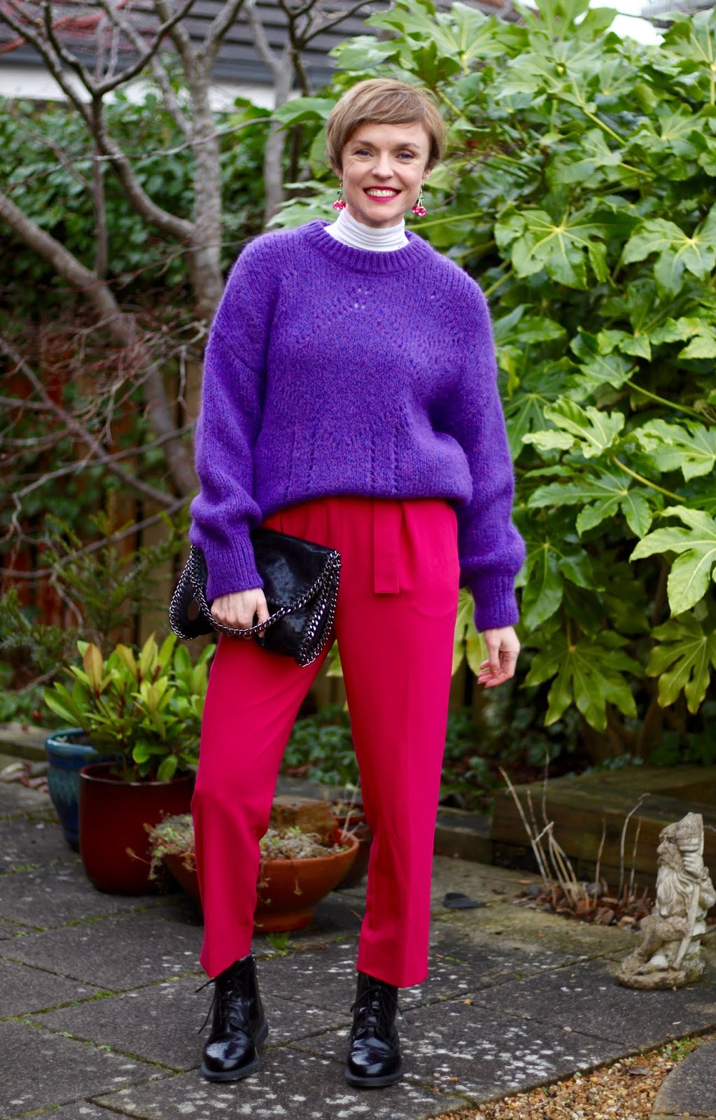Purple & Pink | Colourful Winter Outfit | Fake Fabulous