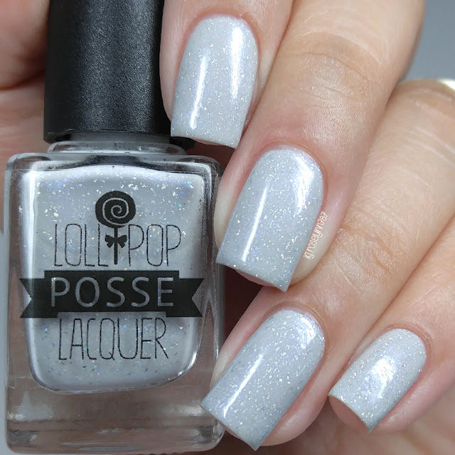 Lollipop Posse Lacquer - Glittery Grey Matter