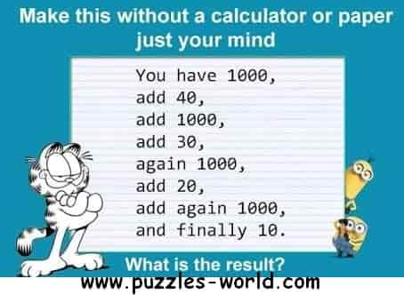 You have 1000 maths puzzle