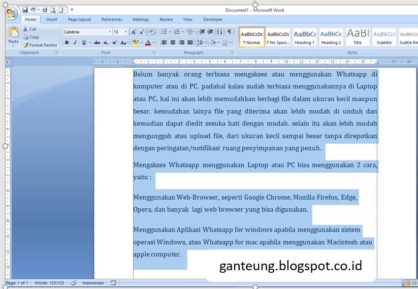 Soal Typing Master Bahasa Indonesia Buatan Sendiri Ganteung Euy