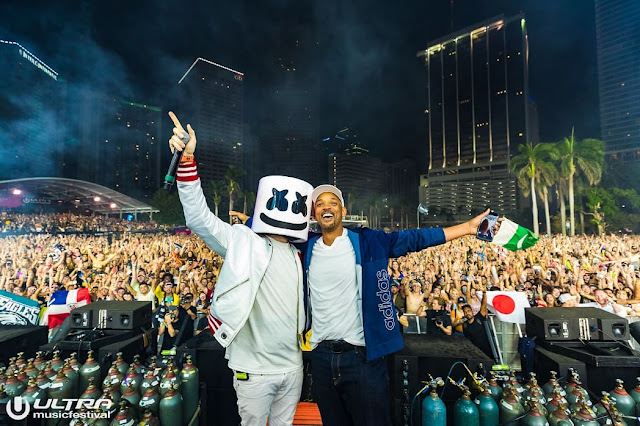 Marshmello & Will Smith, photo by aLIVE Coverage
