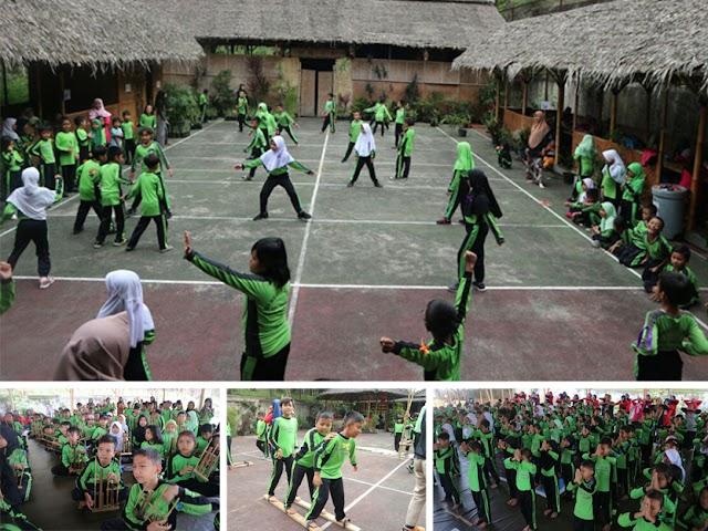 SDN 105 Garuda Dadali Kota Bandung Mengadakan Wisata Edukasi di ECO Bambu Cipaku