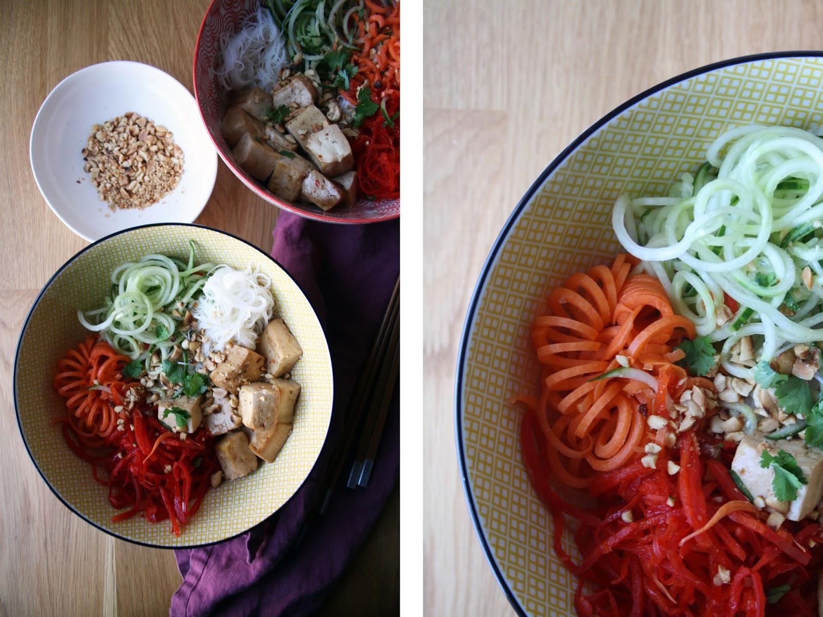 Vegetarian Vermicelli Bowls | Sevengrams