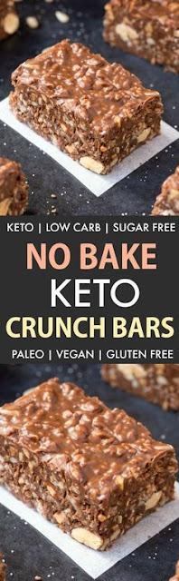 Homemade Keto Chocolate Crunch Bars
