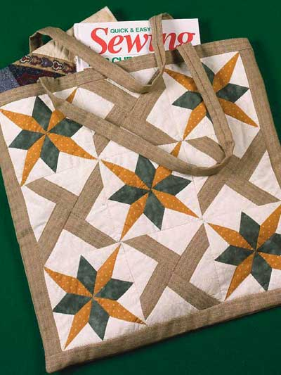 Double Star Tote Bag Free Pattern