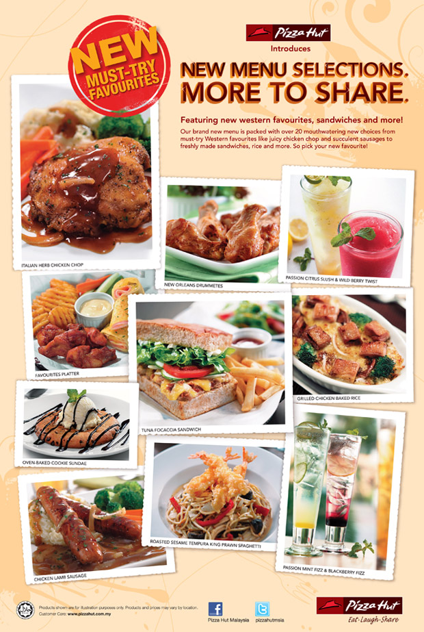 Hut Pizza Menu Malaysia Online