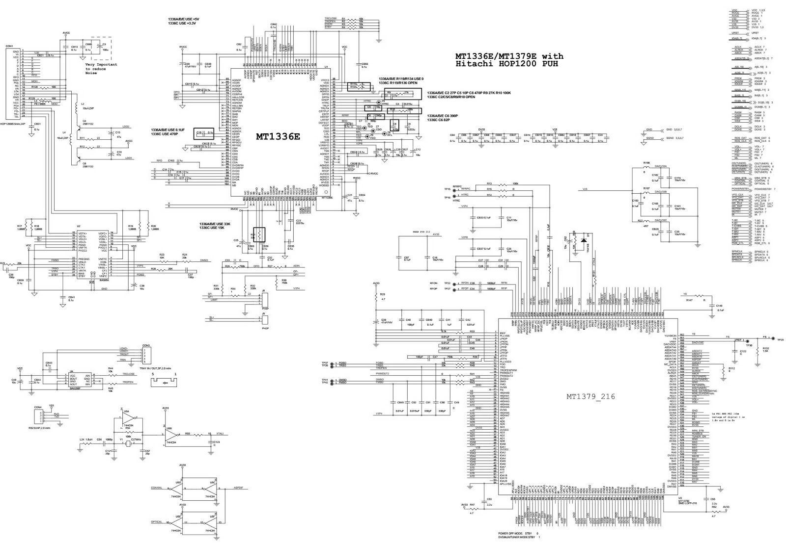 Akai HTCS01T DVD HOME THEATER SYSTEM  Circuit Diagram
