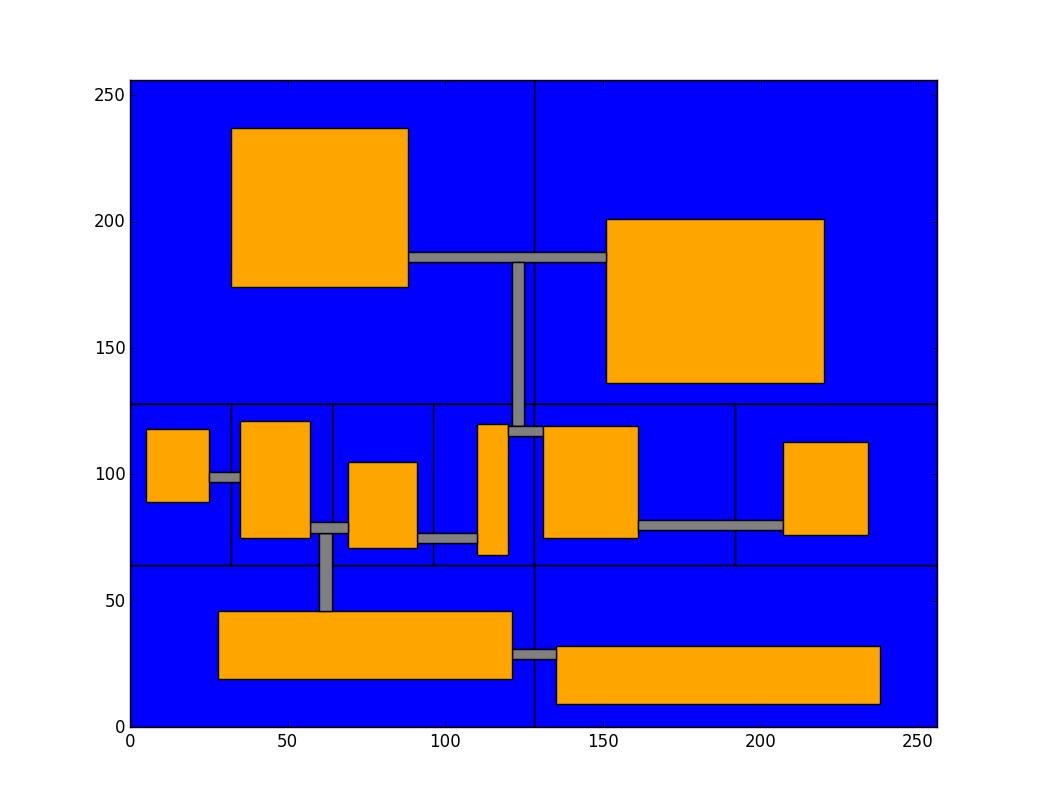 Procedural content generation: map construction via binary