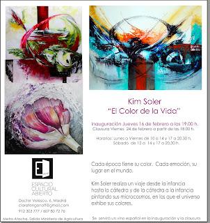 Invitación exposición Kim Soler en Espacio Cultural Abierto.