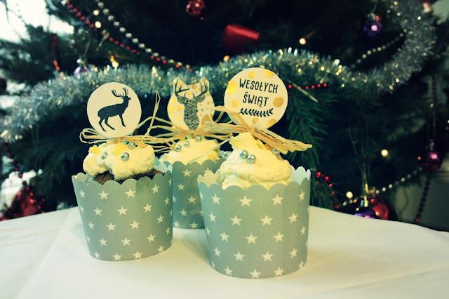 Świąteczne ozdoby do muffinek DIY