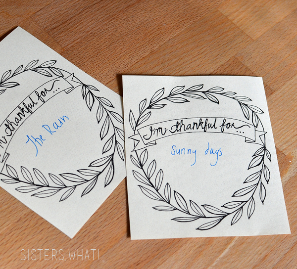 I'm thankful for...free printable
