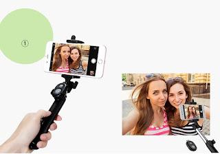 selfie stick treppiede bluetooth