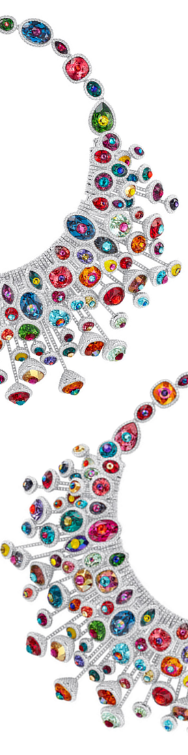 SWAROVSKI LUMINOUS FAIRY NECKLACE MULTI-COLORED, RHODIUM PLATING