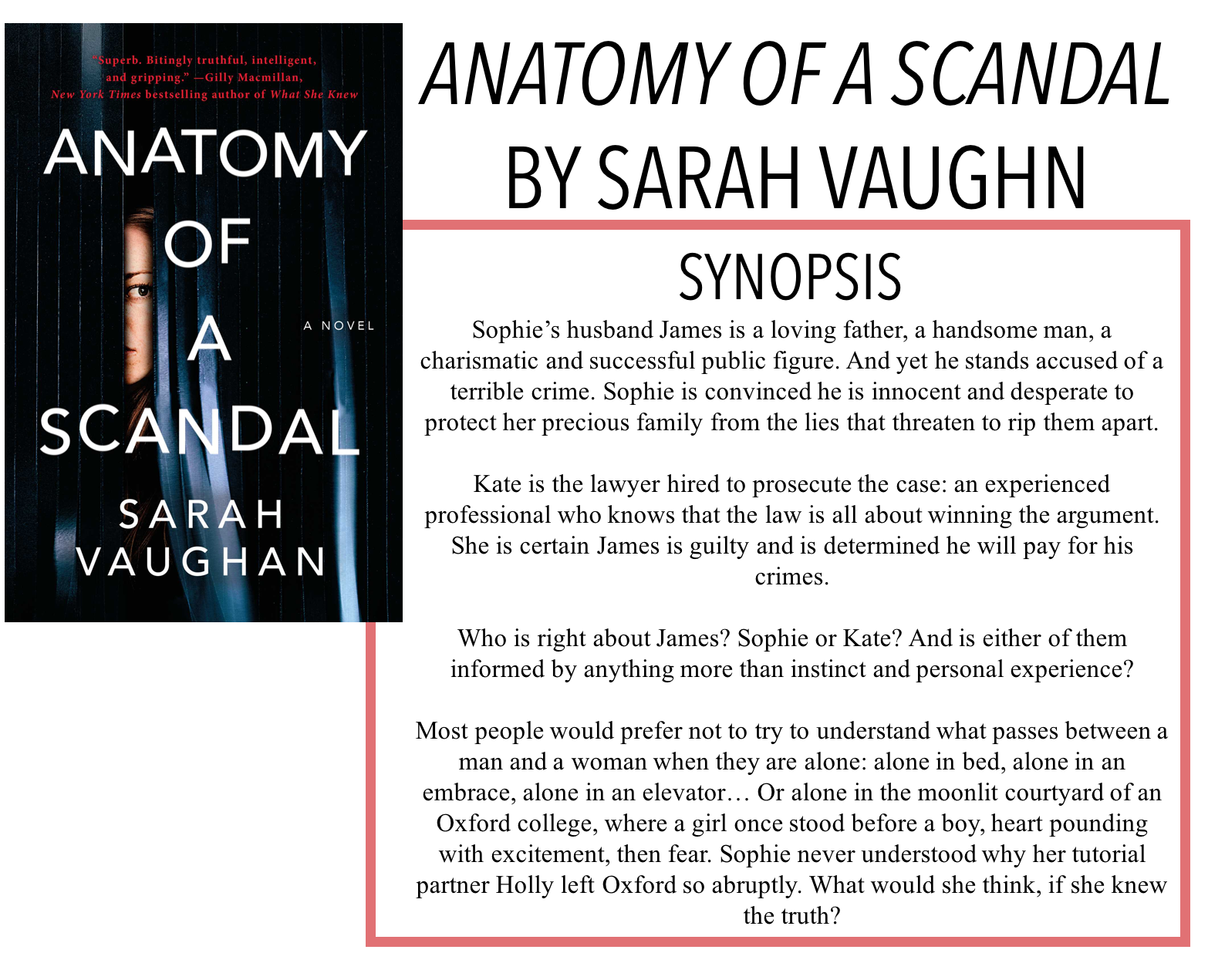 Ryley Reads Anatomy Of A Scandal By Sarah Vaughn Book Review