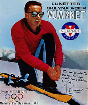 1a9939bf785d6 No ano seguinte, a fábrica francesa contatou Jean Vuarnet e propôs a  utilização de seu nome para o modelo de óculos Skylink Acier.