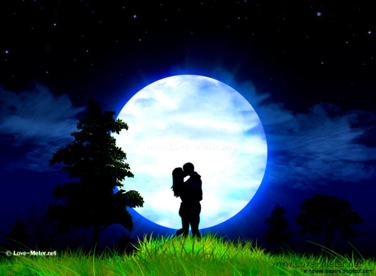 Romantic Hd Wallpapers: Romantic Love Beautiful Moon Hd Wallpaper