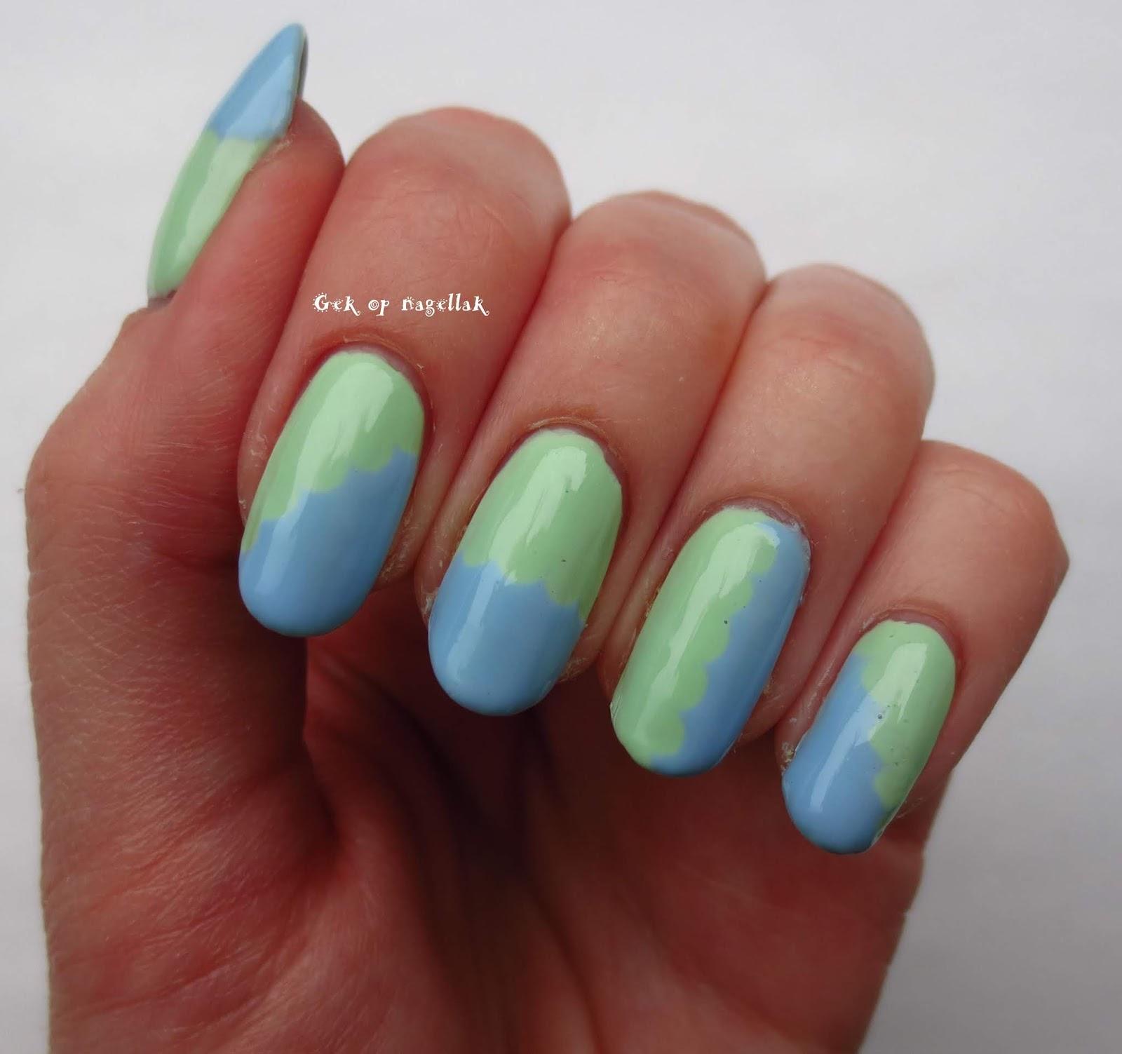 Gek Op Nagellak Nail Art Met Golfjes