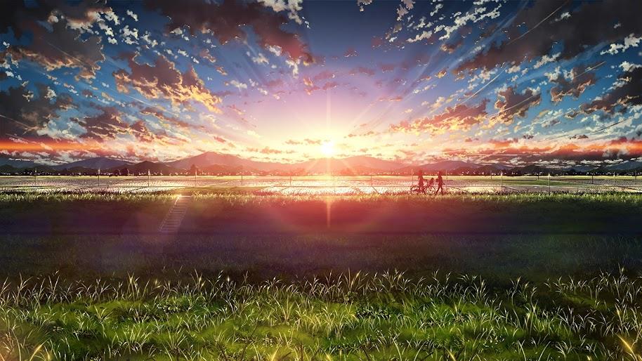 Anime, Beautiful, Sunrise, Landscape, Sky, Clouds, Scenery ...