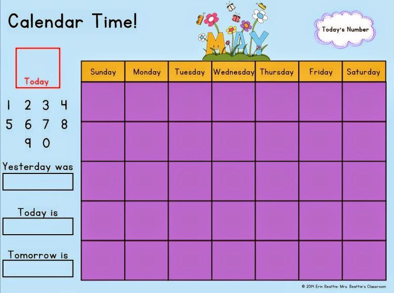 Kindergarten Calendar Smartboard : Kindergarten morning calendar mrs beattie s classroom
