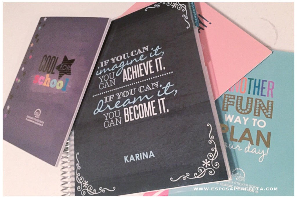 Decorando mi agenda Erin Condren