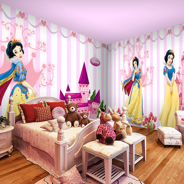 Disney Wall Mural Princess Wallpaper For Girls Cartoon Kids Room