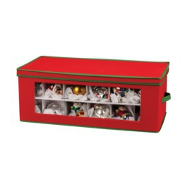 Wing Lid Ornament Storage Box On TheContainerStore.com $16.99. Household  Essentials Holiday Ornament Chest On Target.com $28.99