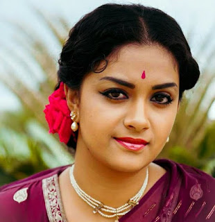 Keerthy Suresh in Saree with Cute and Lovely Smile in Mahanati