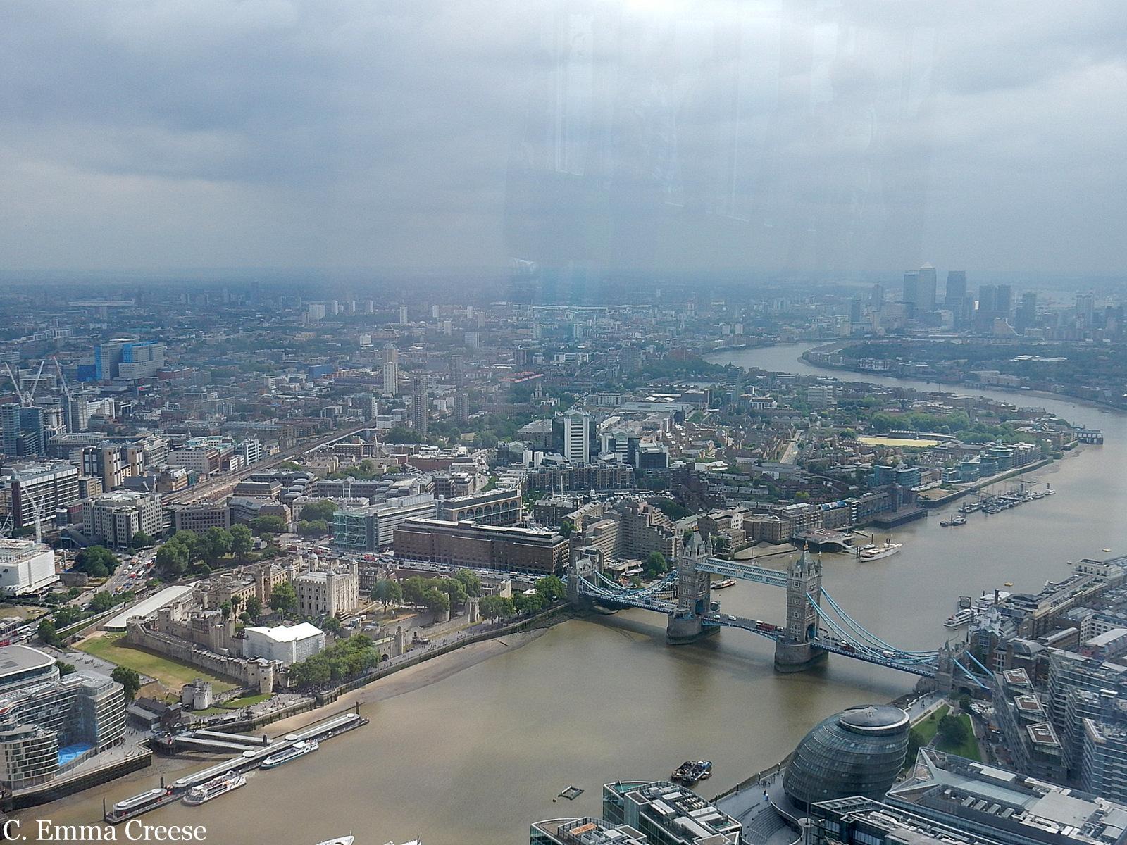The Shard overlooking Tower Bridge London