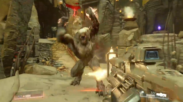 DOOM Hell Heavy Assault Rifle single player Bethesda E3 2015